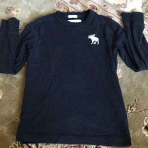 Abercrombie kids long sleeve blue shirt size m